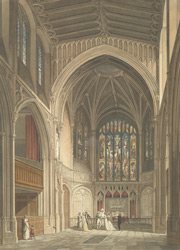 Internal view of the chancel of St Margaret's Church, Westminster. 24-c-2